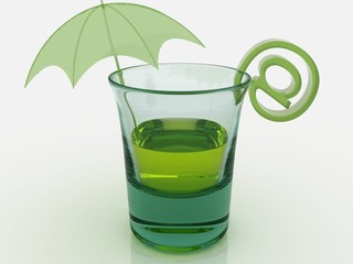 glass umbrella e-mail