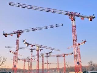 Cranes on a construction site