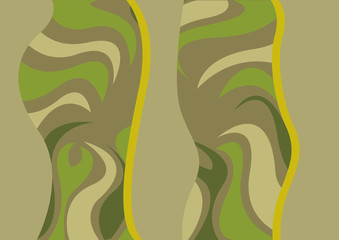 Wall Mural - abstract trees with camouflage pattern
