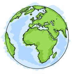 Planète terre dessin