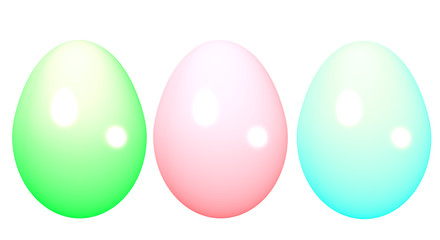 3d Easter Eggs Isolated