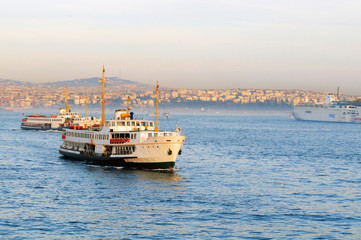 A ferryboat in the Bosphorus