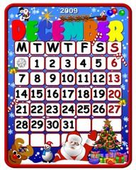 calendar december 2009