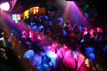 Obraz discoteca by night - fototapety do salonu