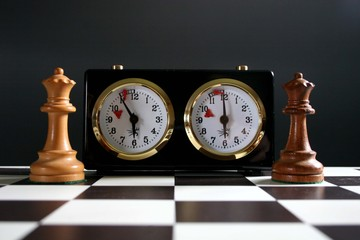 chess clock and queens