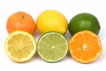 lemon, lime and tangerine fruit