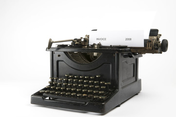 Invoice Typewriter
