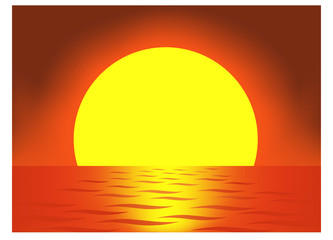very big sun vector