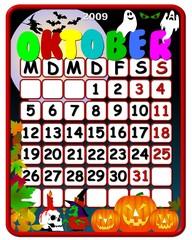 Kalender deutsch - Oktober- Feiertage
