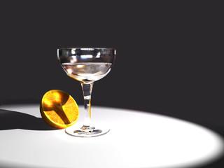 orange and goblet