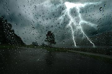 Photo sur Aluminium Tempete Thunderstorm 2