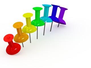 3d rainbow  thumbtack