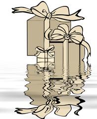 boîtes dans l'eau