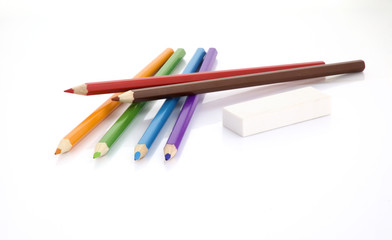 coloured pencils file contains clipping path