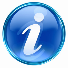 information icon blue, isolated on white background.