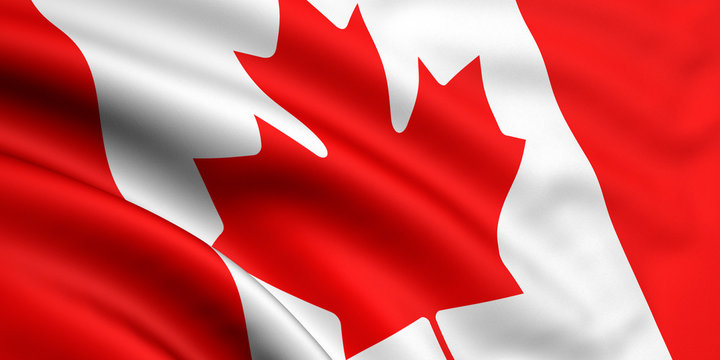 Rendered canadian flag