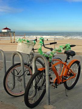 Two Bikes on Beach