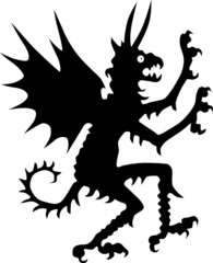 silhouette of devil