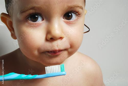 b b qui se brosse les dents photo libre de droits sur. Black Bedroom Furniture Sets. Home Design Ideas