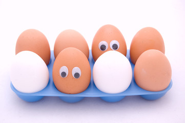 eggs with eyes