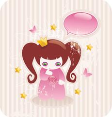 cartoon little princess