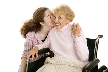 Kiss for Grandmother