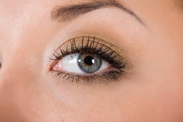 blue eyes on white