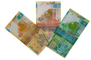 Kazakhstan money in the form of a flower.