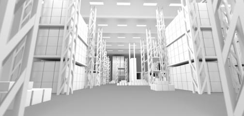 illustration eines WareHouses