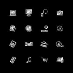 Silver e-shop icons
