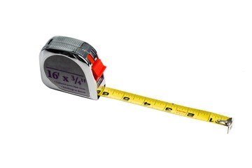 Alluminum Measuring Tape on a white background