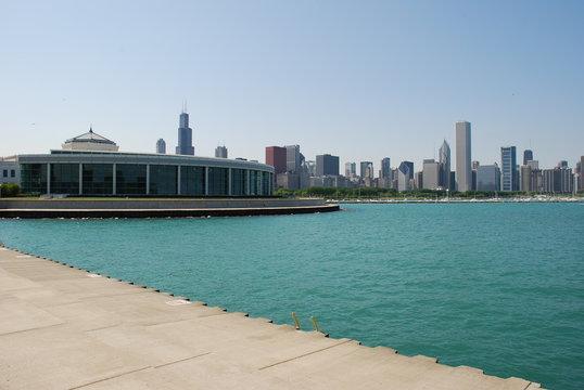 Downtown, Chicago skyline