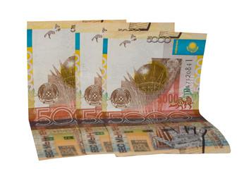 Kazakhstan money. 5000 denominations.