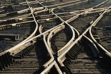 Fotorollo Eisenbahnschienen abweichend
