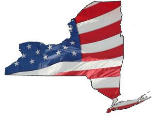 U.S. flog over New York