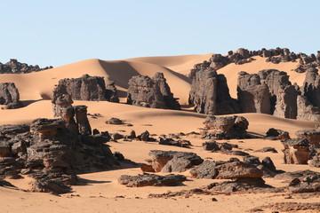 Foto op Aluminium Algerije Desert Scene