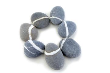 Obraz smooth stone on white background - fototapety do salonu