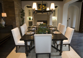 Luxury home dining room.
