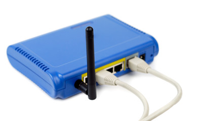Blue Connected Router