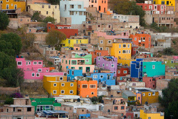 Canvas Prints Mexico colorful buildings in Mexico