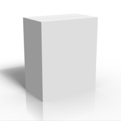 blank white box template