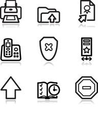 Black contour web icons, set 4