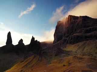 Old Man of Storr on Scottish Island Skye