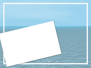 Wallpaper - blank card on a background of a sea landscape