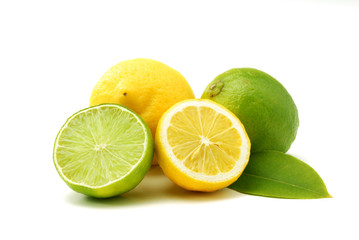 Lemons and green limes