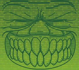 Informatics virus in binary code