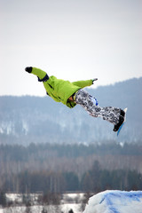 snowboard big-air contest