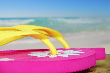 Flip flops by Ocean