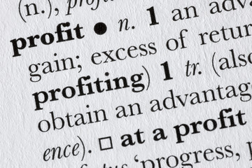 Profit word dictionary definition