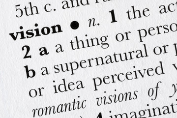 Vision word dictionary definition